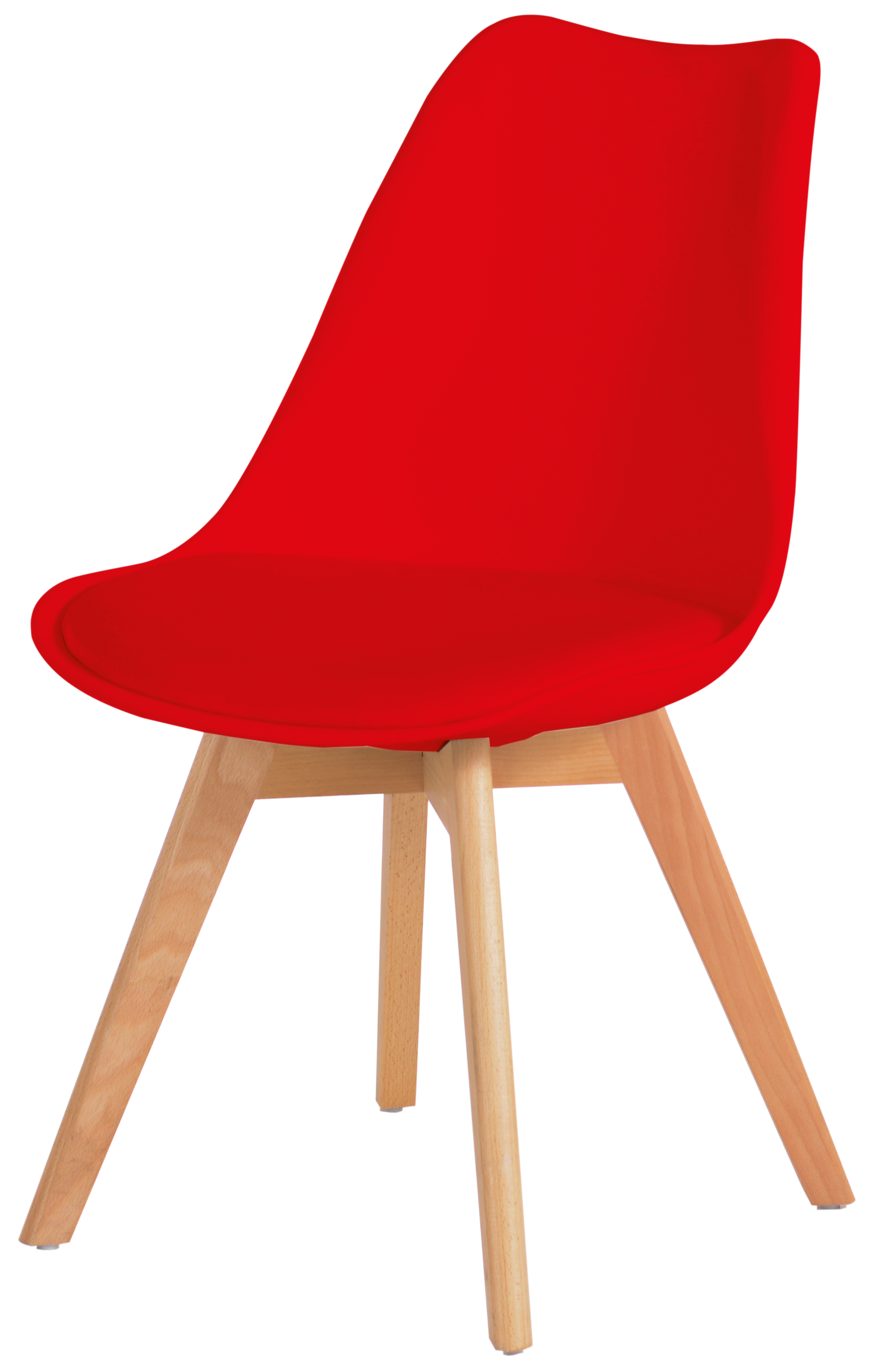DANNY, der chicke Stuhl in Kunstleder-Echtholzkombination