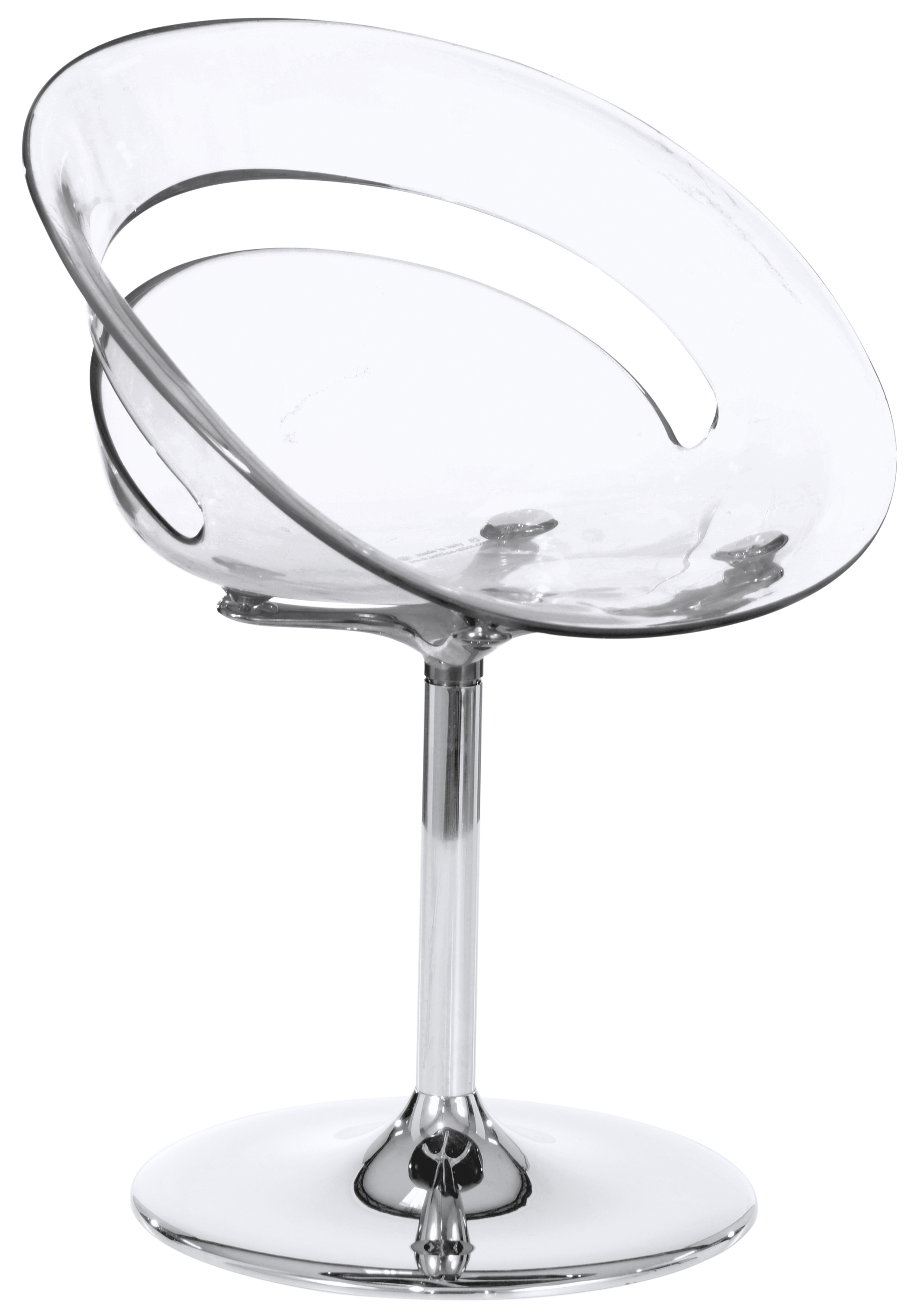 Design-Stuhl Kristina 2 II (Stuhl-Sessel-Stil, ideal für Eisdiele, Gastro, Beauty-Salon, rot / schwarz / weiß / transparent)