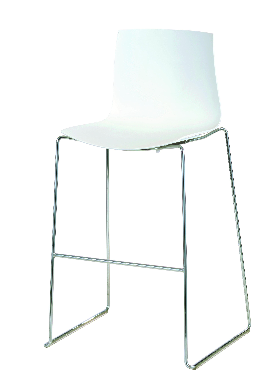 Catifa 46 Luxus-Barhocker (Arper, Designerhocker, weiß), Tresenhocker / Barstühle - STARK REDUZIERT!