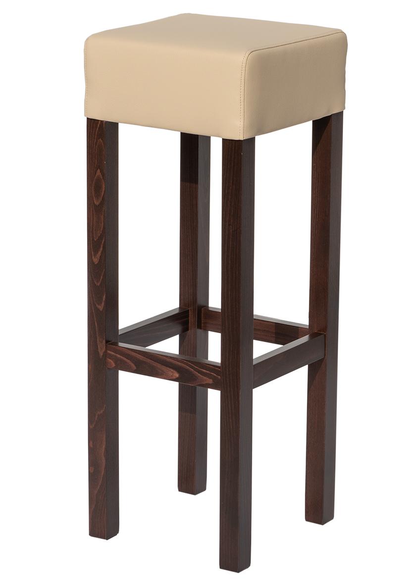 Barhocker Cauloon, Massivholz (Barhocker, Tresenhocker, Gastro-Hocker, Restaurant-Hocker) - massives Holz, rustikaler Look - MEGA-reduziert!