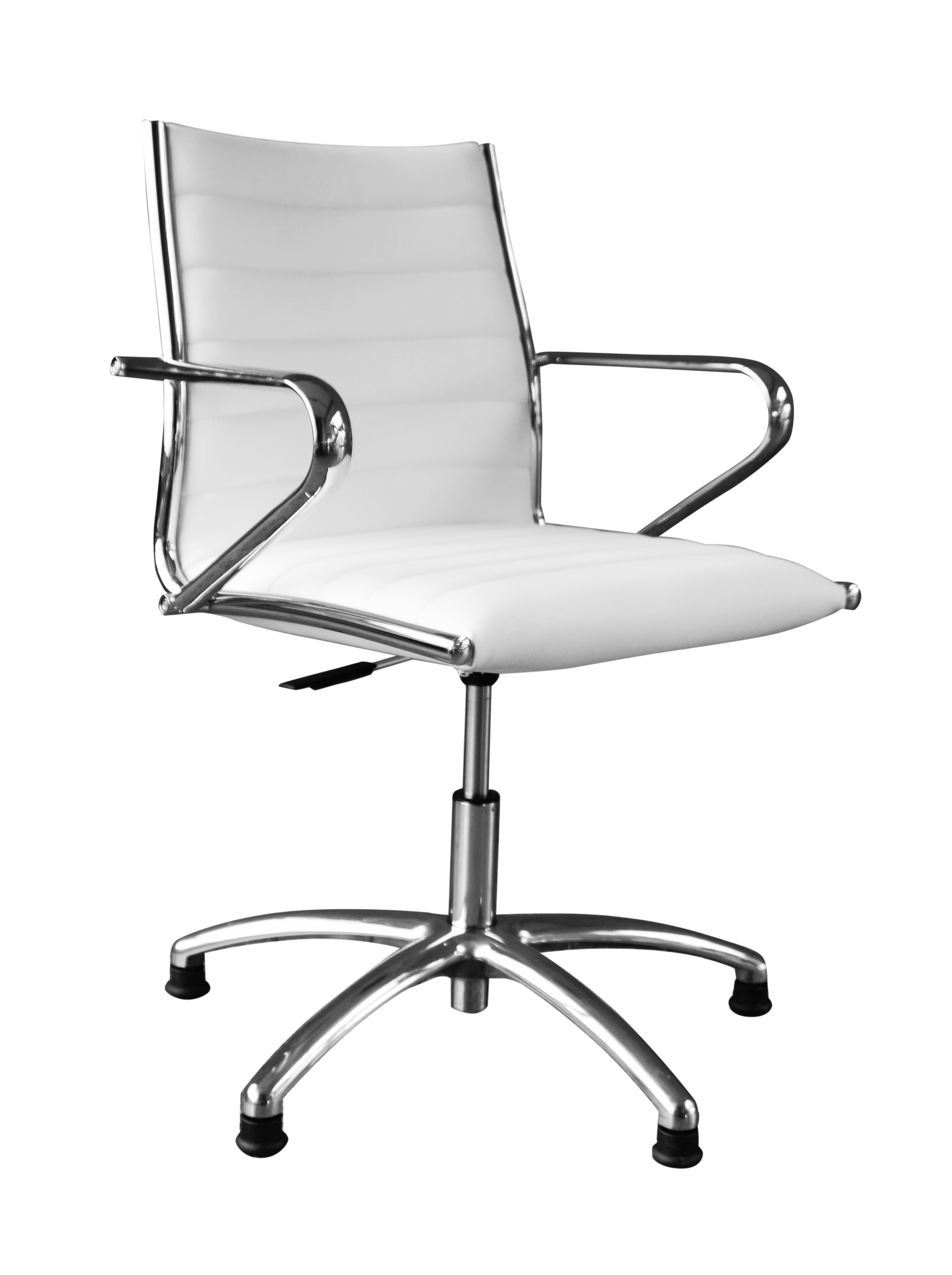 Büro-Drehstuhl CHEF TWO: Meeting-Stuhl (mit Lehne & Rollen - rollbar, höhenverstellbar, Kunstleder - Office-Stuhl / Sessel)