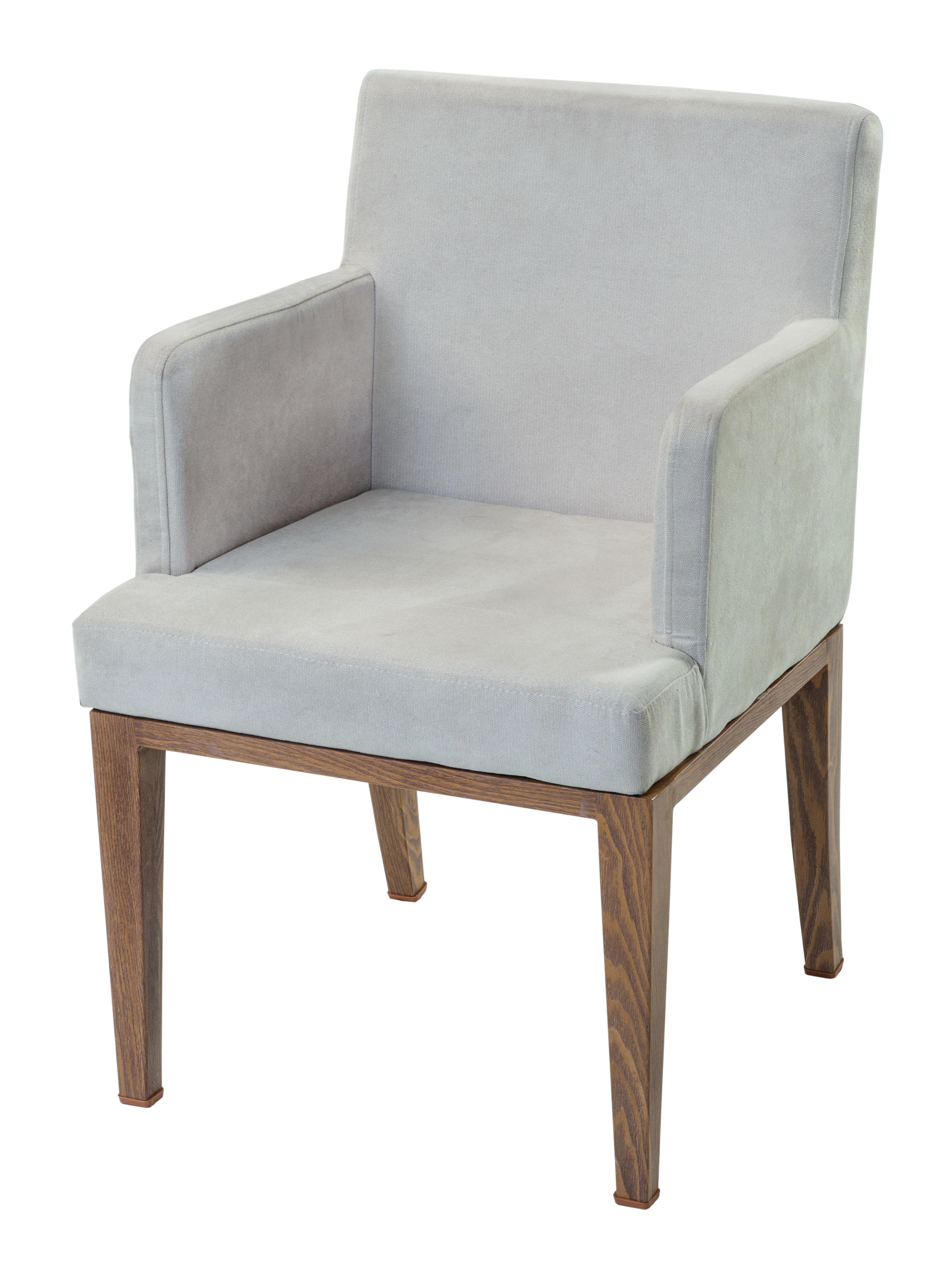 Sessel Helena (bekannt aus der Fußball-WM in Russland - Polster-Sessel, super-bequem, beige, Metall-Gestell in Holz-Optik, perfekt für Esstisch & Sitzgruppe)