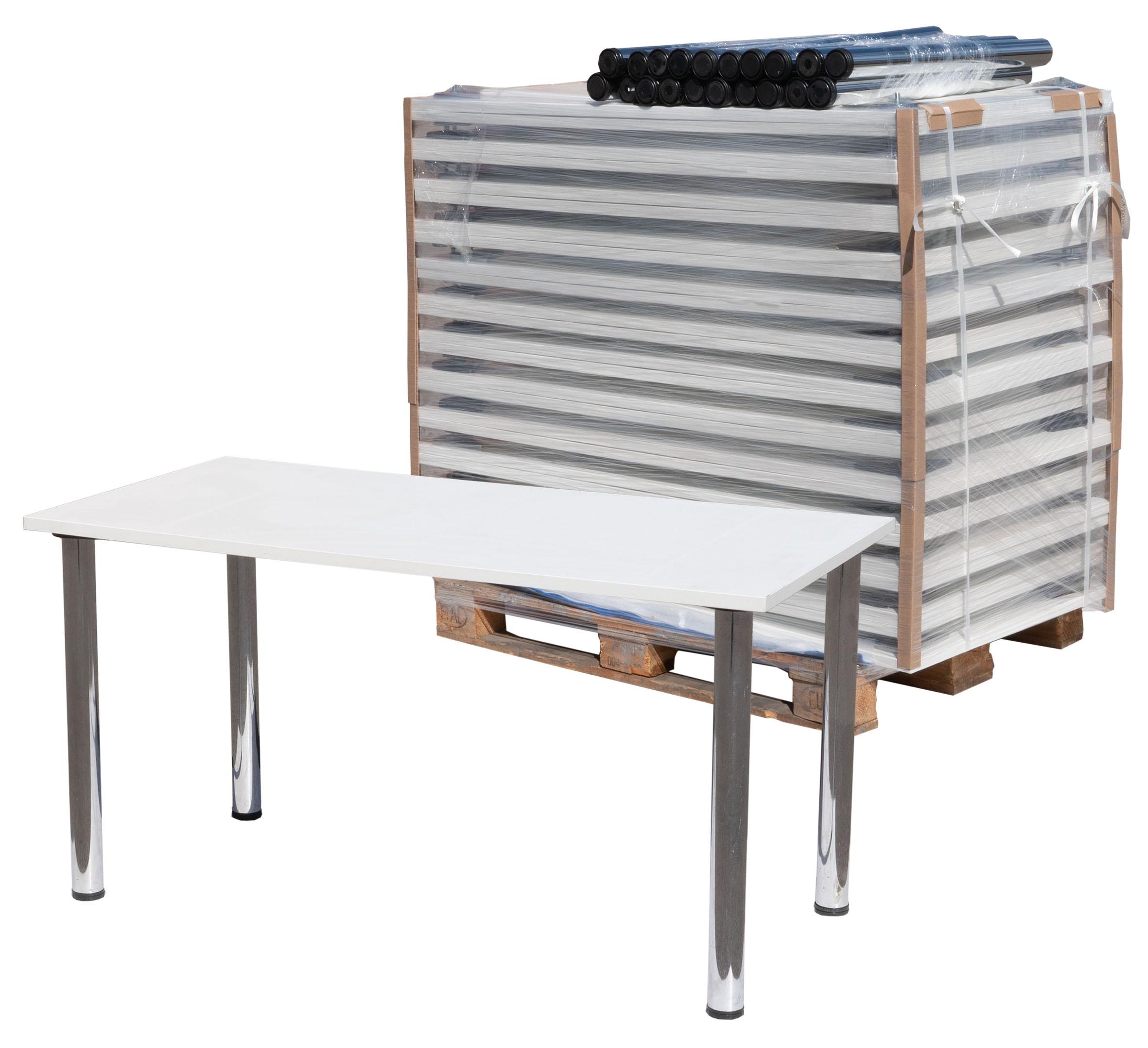 NEWPORT Tisch 140 cm x 70 cm  / Pallettenware / 25 Garnituren /  für 35 Meter Gesamt-Tischlänge