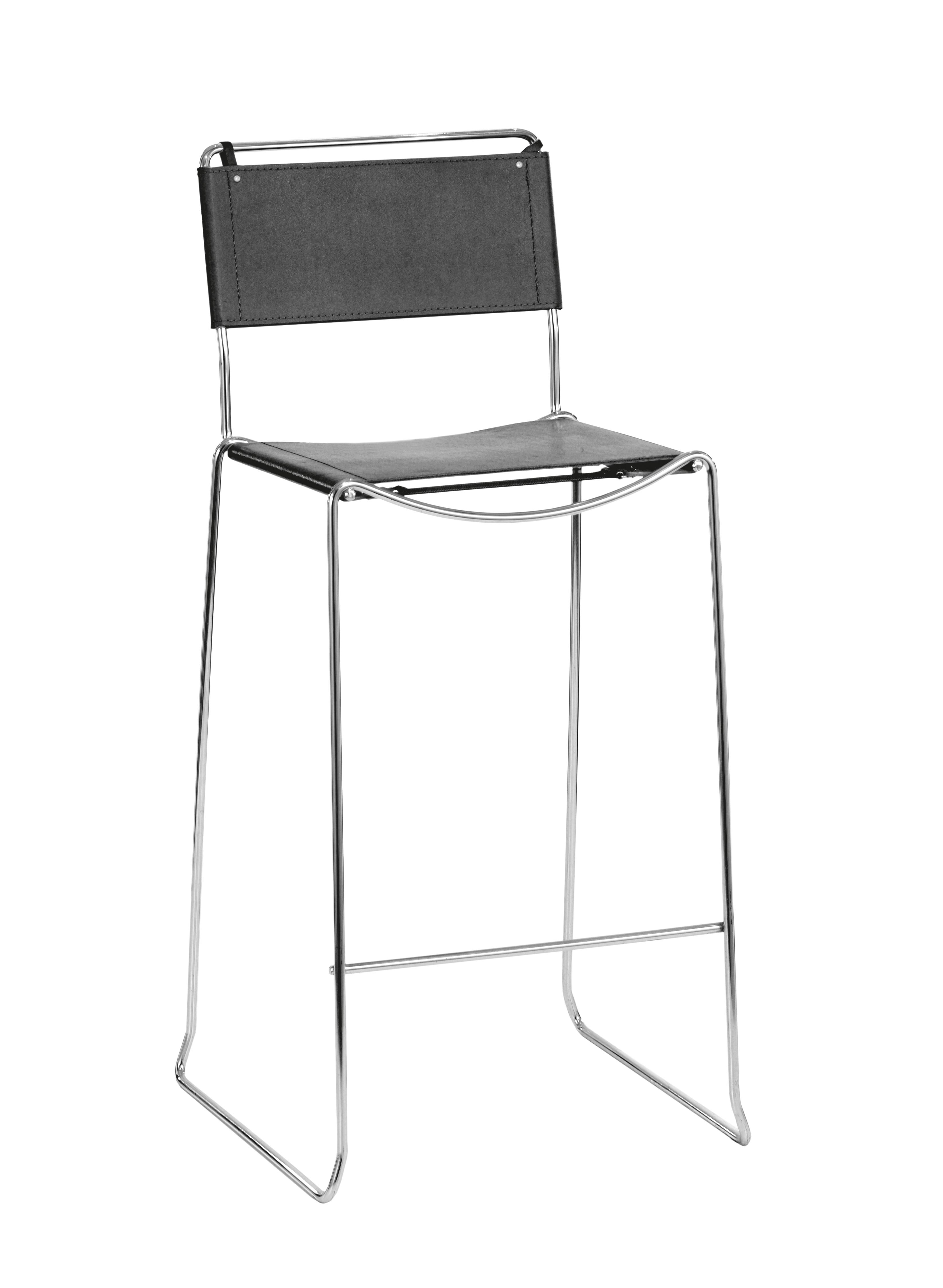 VIP Barhocker (Tresenhocker, hoher Stuhl, Barstuhl, Barhocker, schwarz, Leder) - STARK-REDUZIERT!