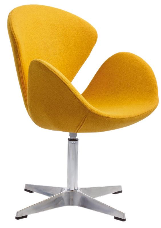 MARC Polstersessel (360° drehbar, verchromt, Bezug in beige, blau, gelb, rot - gepolstert) - stilvoll elegant & MEGA-reduziert!