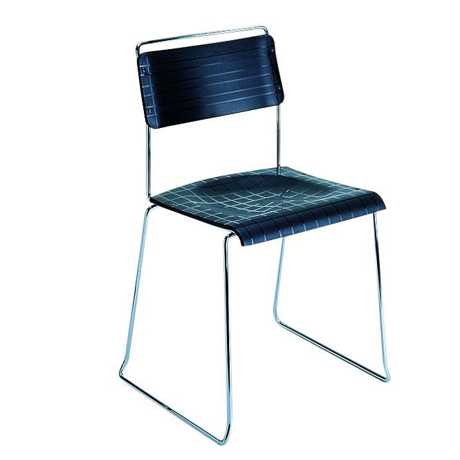 JODY Metall-Stuhl: Filigran, Stahlrohr verchromt, ideal für Wartebereiche, Wartezimmer, Versammlungen - mit Kunststoff-Sitzschale