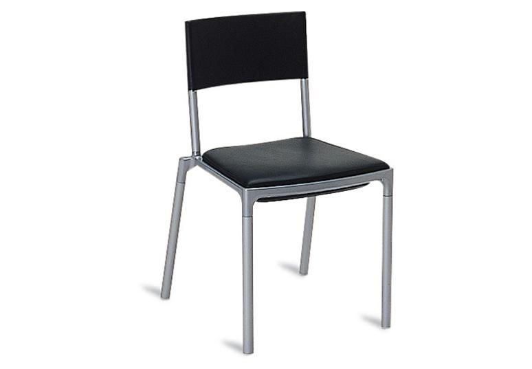 BLITZ Stuhl,  stapelbar ohne Armlehne (schwarz, Stapelstühle - dieser Stapelstuhl ist auch mit Armlehne erhältlich!)