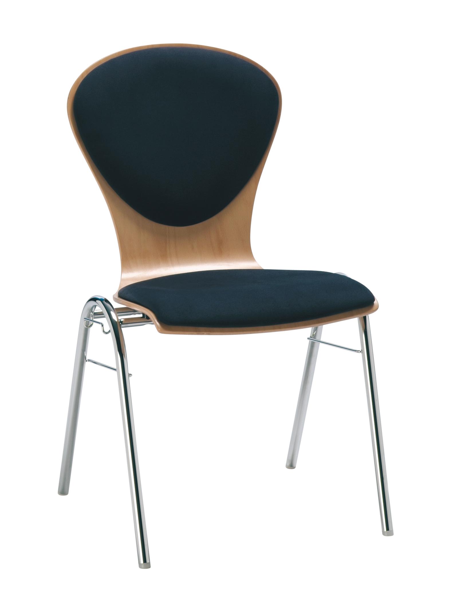 ATLANTA Stapelstuhl (Hiller, Stapelstühle, Buche / Buchenholz) - bis 20 Stühle stapelbar!