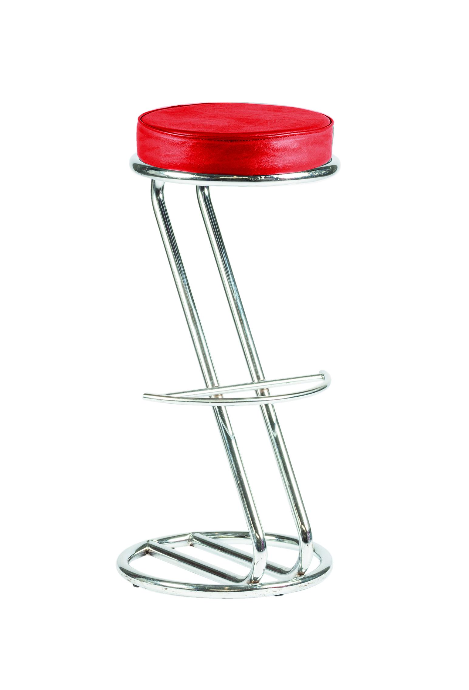 """Barhocker """"Z"""" (Tresenhocker, Tresensitz, Barsitz) - Barstühle in rot, schwarz, weiß, grau - mit Fußablage, günstig & mega-reduziert"""