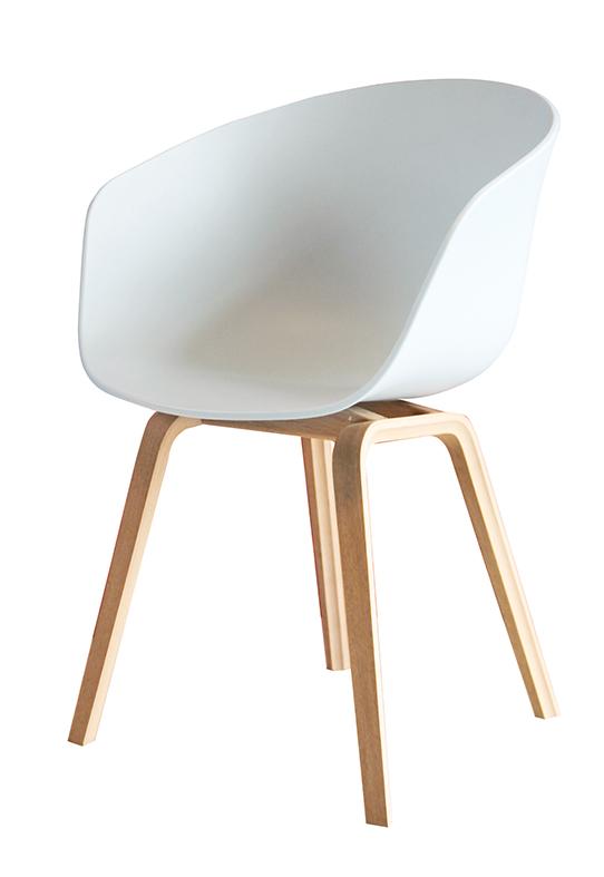 About a Chair AAC 23 Stuhl (Designer-Stühle, schwarz / weiß, Eichen-Holz, HAY, Hee Welling)