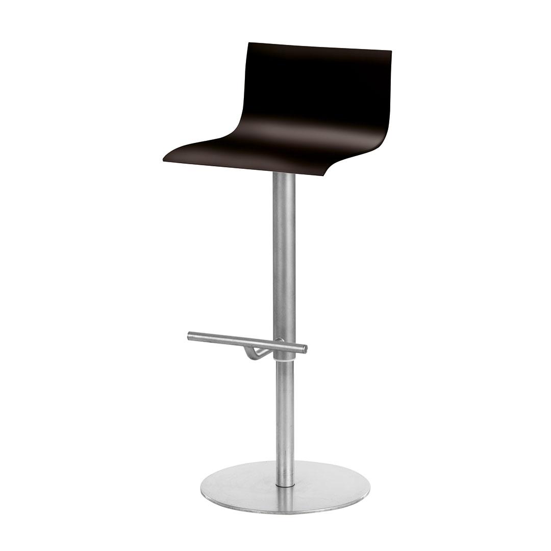 """Lapalma THIN S16 Barhocker, (""""La Palma""""), elegant, Holz, nussbaum, schwarz, weiß - höhenverstellbar, drehbar, geformte Eleganz - MEGA-reduziert!"""