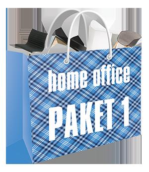 Home Office Set black: Tisch, Chef-Büro-Drehstuhl, Rollcontainer, Sideboard und Papierkorb