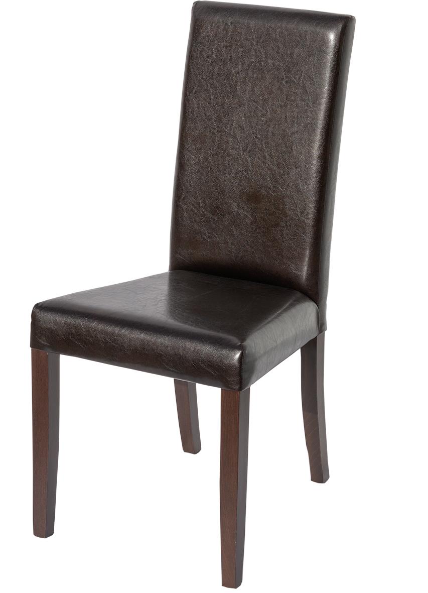 ORION 14: voll gepolstert - perfekt als Restaurant-Bestuhlung: Restaurant-Stühle, braun, Kunstleder, Vollpolster-Stuhl, für Bar, Cafe, Bistro (Gastro-Stühle)