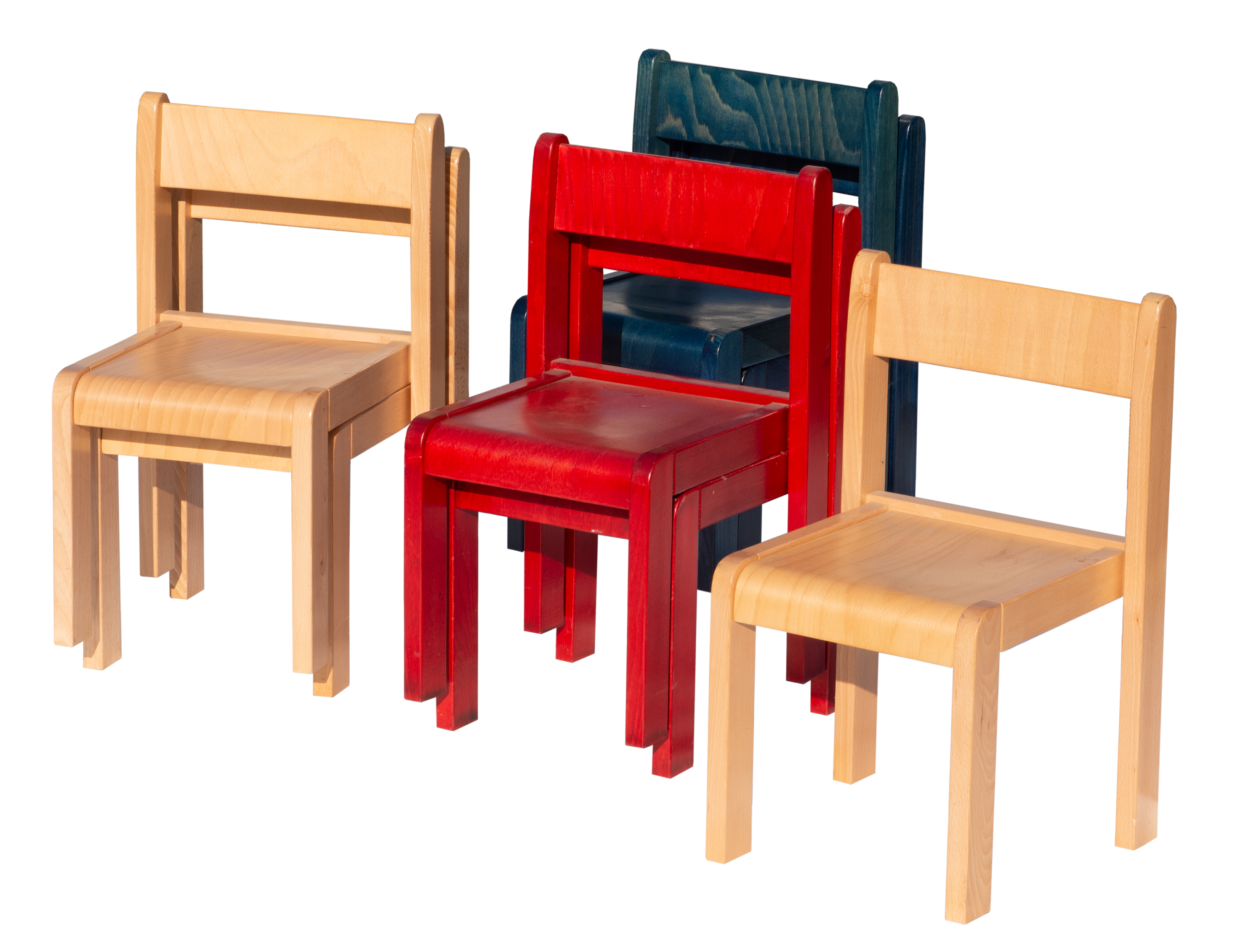 WOOD KIDS Kinderstühle aus Holz im  Set