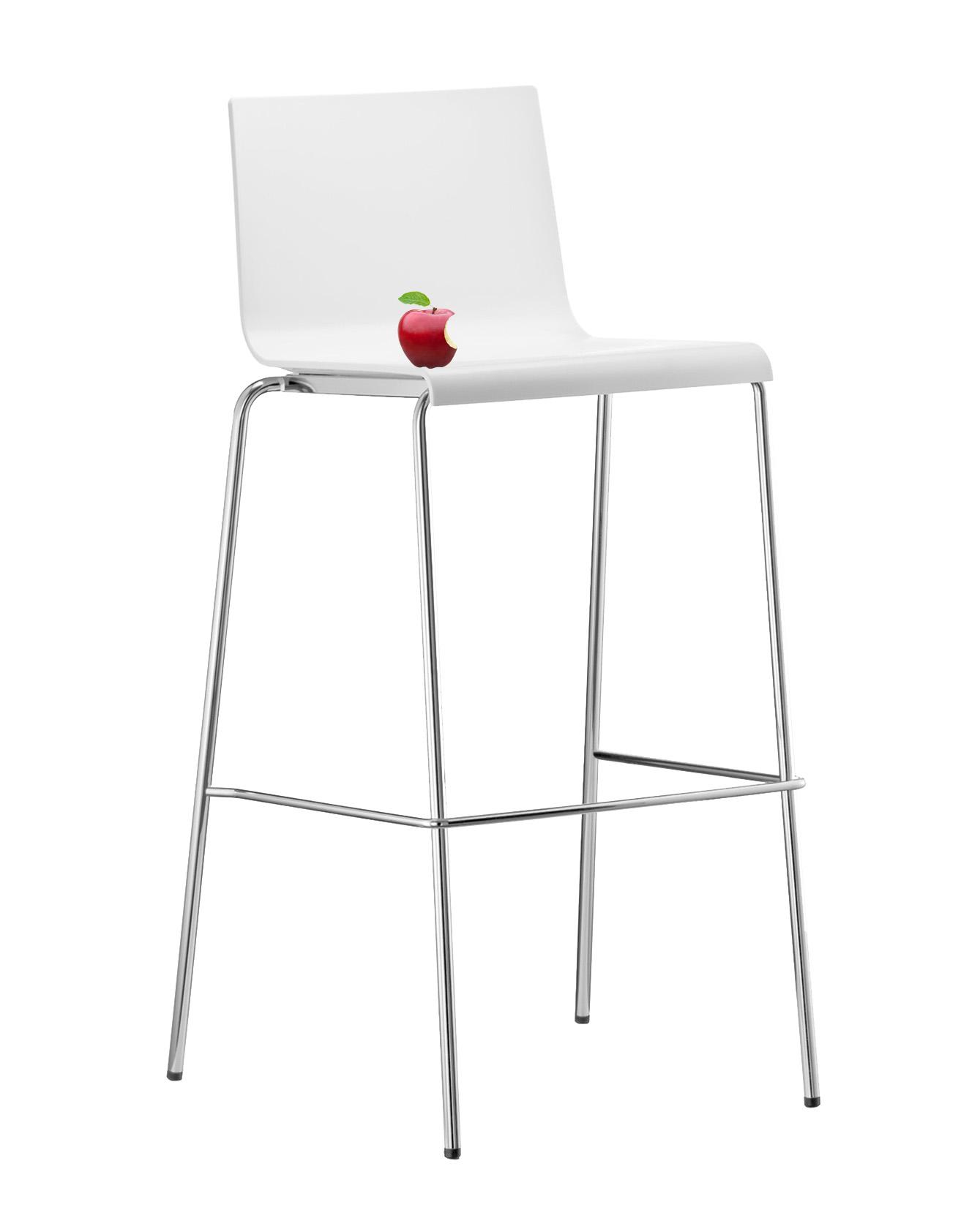 Barhocker Kuadra 1112 (Pedrali, Designer-Tresenhocker / Barstuhl) extrem robust & langlebig, weiß, perfekt für Events & Gastro