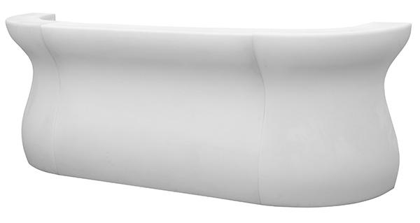 BAR TOLOMEO / schneeweiße dreiteilige Designerbar mit Beleuchtung